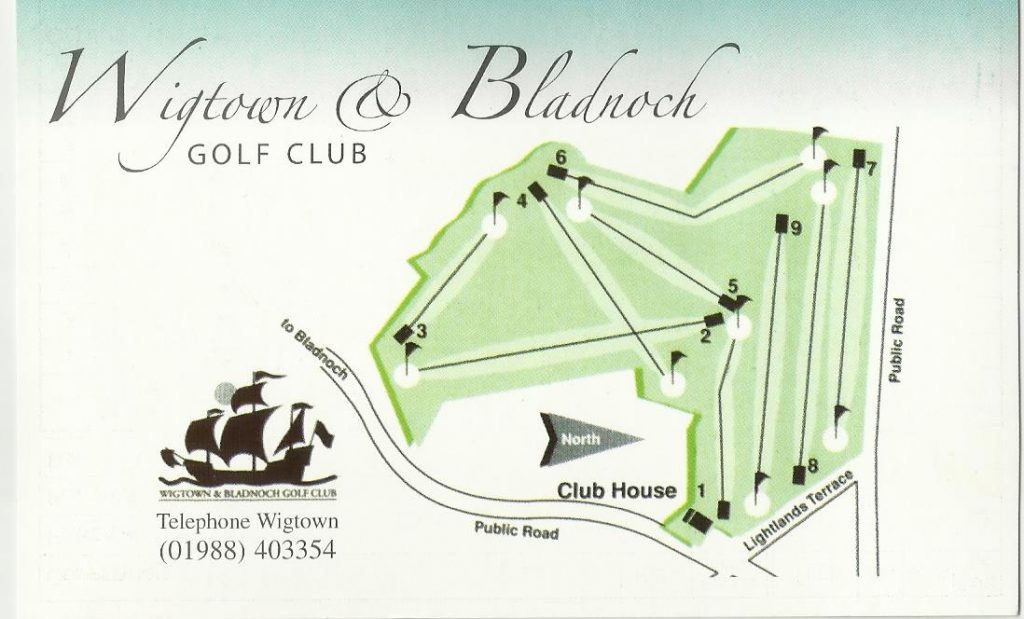 Wigtown & Bladnoch Golf Course - Course Plan